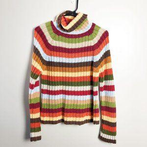 Next Era Striped Y2K 90s Turtleneck Sweater